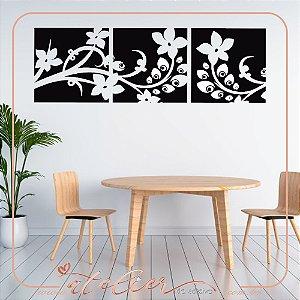 Adesivo Decorativo Quadro de Flores