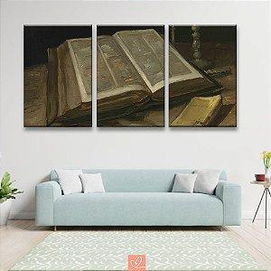 Trio de Telas Replica Obra Still Life With Bible -  Vincent Van Gogh