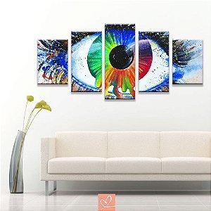 Conjunto de Telas Olhos de Aquarela
