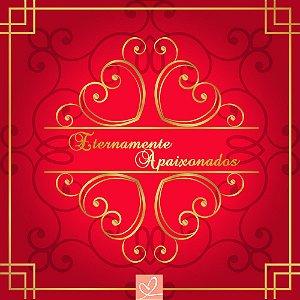 Pista de Dança Casamento Eternamente Apaixonados Vermelha - Sem Personalização