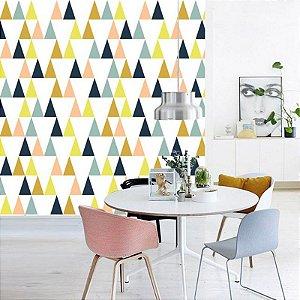 Papel de Parede Adesivo Geométricos Triângulos Modernos