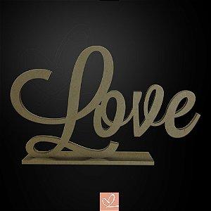 Display Palavra Love em MDF