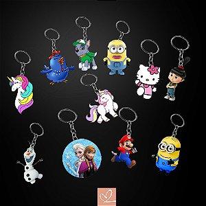 Chaveiros Lembrança Personalizado Vários Personagens Infantil MDF