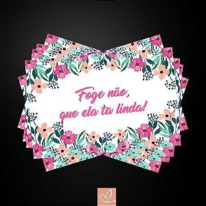 Kit Placa Para Entrada da Noiva Floral em PVC 2mm