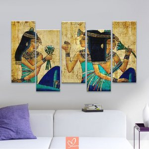 Conjunto de Cinco Telas Slim Modern Egípcia