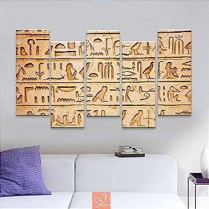 Conjunto de Cinco Telas Slim Hierógrafos Egípcios
