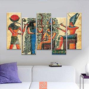 Conjunto de Cinco Telas Slim Cleópatra Egípcia