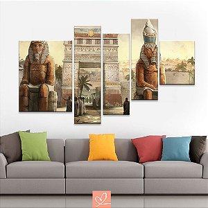 Conjunto de Telas Estátua Egípcia