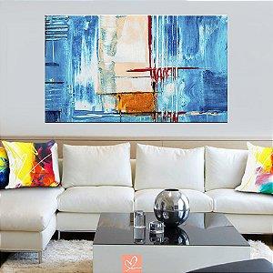 Quadro em Tela Canvas Abstrato Blue