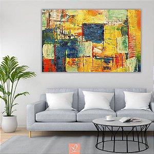Quadro em Tela Canvas Abstrato Colorful Modern