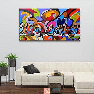 Quadro em Tela Canvas Santa Ceia Abstrato