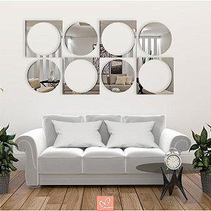 Espelho Decorativo Quadros e Bolas
