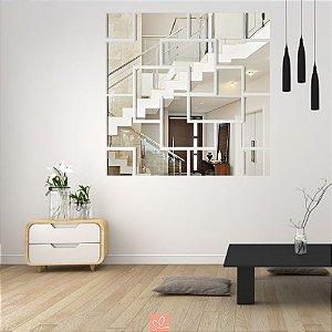 Espelho Decorativo Setas Labirinto