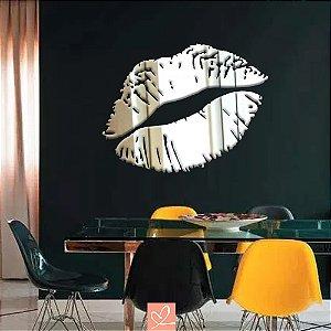Espelho Decorativo Lábios Sensuais