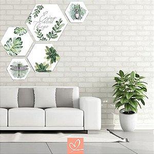 Kit Placas Decorativas Hexagonal Enjoy