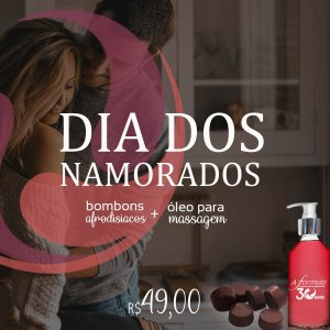 Promoção - Chocolate Afrodisíacos (6Un) + Óleo de Massagem (120 ml)