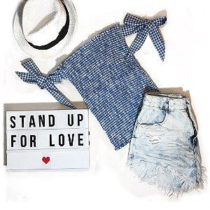 Blusa True Love Azul
