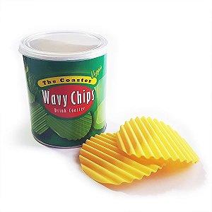 Porta Copos em Silicone Wavy Chips