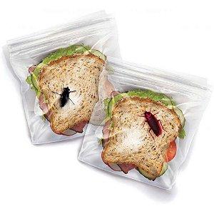 Saquinhos plástico para sanduiche Lunch Bugs