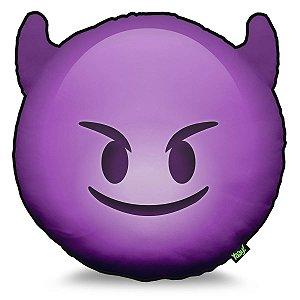 Almofada Emoticon - Emoji Diabinho