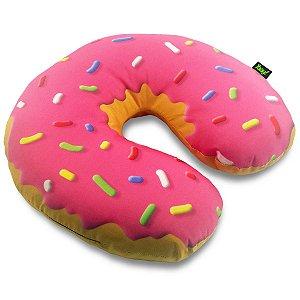 Almofada de Pescoço Rosquinha Donut - morango