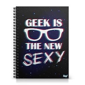 Caderno Universitário Capa Dura 1x1 - Geek is the new Sexy