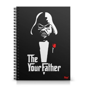 Caderno Universitário Capa Dura 1x1 - Geek Side - The Your Father