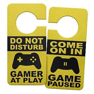 Aviso de Porta Ecológico Gamer at Play