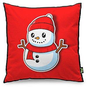 Almofada de Natal Boneco de Neve