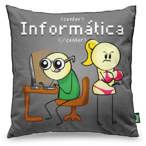 Almofada DrPepper Profissões - Informática
