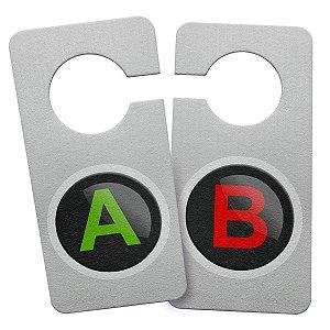 Aviso de Porta Ecológico Gamer Botões A e B