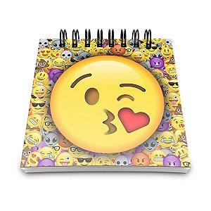 Bloco de Anotações Emoticon - Emoji Beijinho com Amor