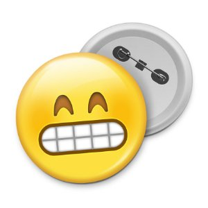 Botton Emoticon - Emoji Super Feliz