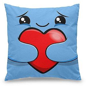 Almofada kawaii - Eu te Amo - azul