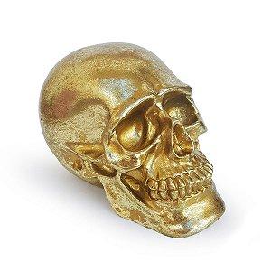 Cofre Crânio Skull - dourado