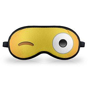 Máscara de Dormir em neoprene - Emoticon Emoji Piscadinha