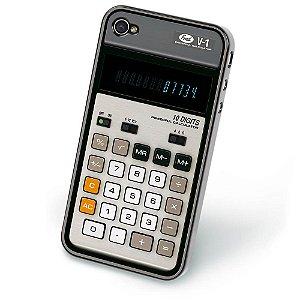 Capa para iPhone 4 ou 4S Calculadora Retrô