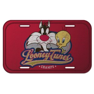 Placa de Metal Decorativa Looney Tunes Piu-Piu e Frajola