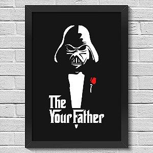 Poster A3 com Moldura Geek Side - The Your Father