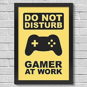 Poster A3 com Moldura Gamer at Work