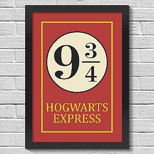 Poster A3 com Moldura Hogwarts Express
