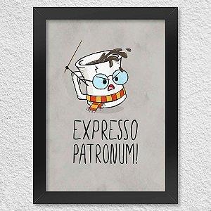 Poster com Moldura Expresso Patronum