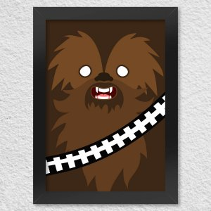 Poster com Moldura Geek Side Faces - Bacca
