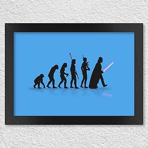 Poster com Moldura Geek Evolution - azul