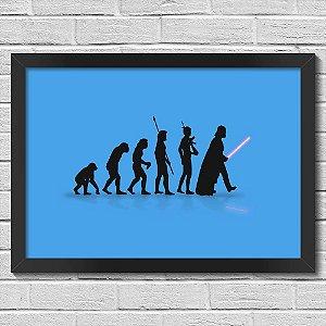 Poster A3 com Moldura Geek Evolution - azul