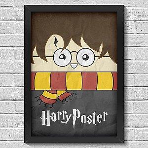 Poster A3 com Moldura Feiticeiro de óculos