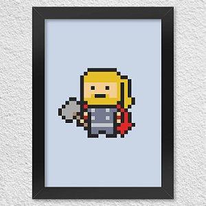 Poster com Moldura PixelThor