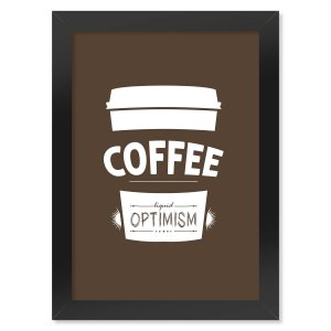 Poster com Moldura Coffee Liquid Optimism
