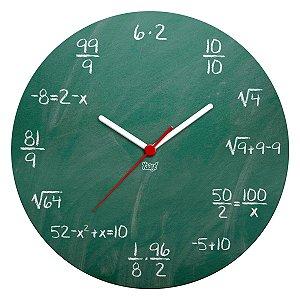 Relógio de Parede Ecológico Geek Blackboard