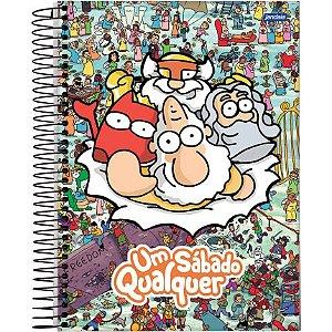 Caderno Um Sábado Qualquer - Deuses - 1x1 96 folhas
